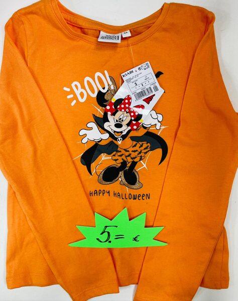 Garroku krekliņš 5 gadi/108-113 cm/Oranžš ar Minnie Mouse/Happy Halloween/Kiabi