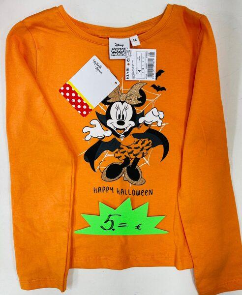 Garroku krekliņš 4 gadi/98-107cm/Oranžš ar Minnie Mouse/Happy Halloween/Kiabi