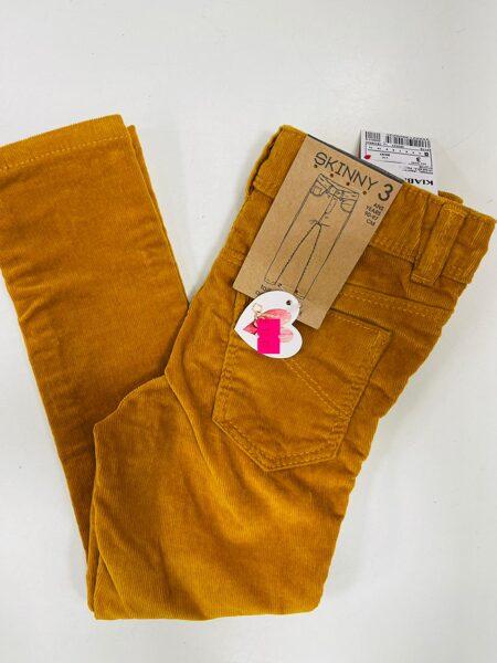 Velveta bikses Skinny 3 gadi/90-97 cm/Smilšu krāsā/Kiabi