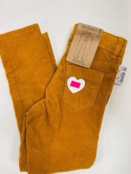 Velveta bikses Skinny 5 gadi/108-113cm/Smilšu krāsā/Kiabi