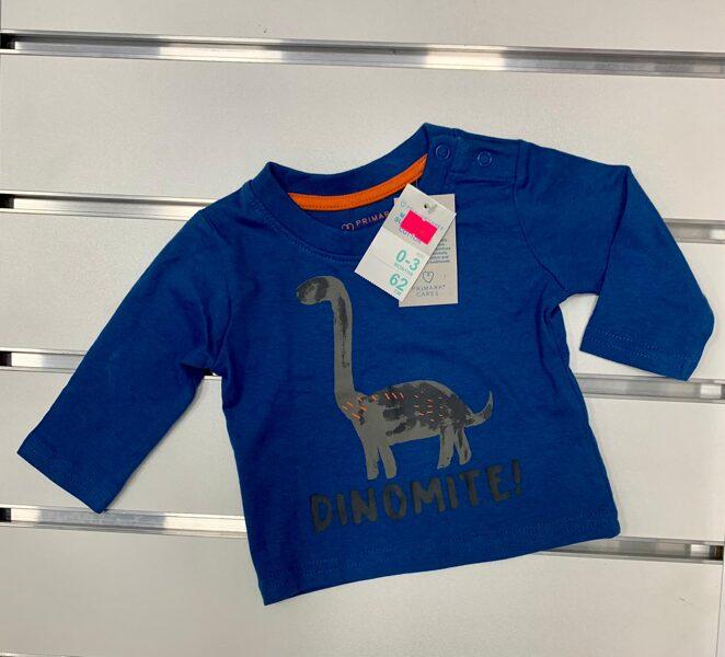 Garroku krekliņš -3 mēn./62cm/Zils ar dinozauru/Dinomite.