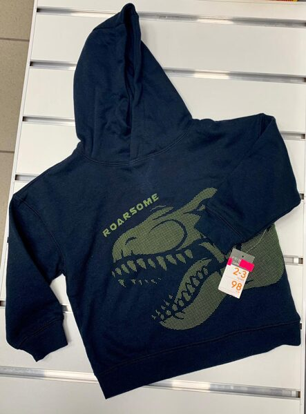 Džemperis ar kapuci 2-3 gadi/98cm/Tumši zils/Roarsome