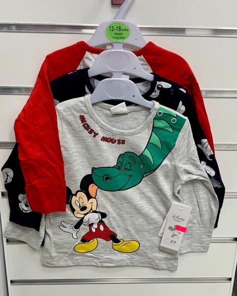 Garroku krekliņi 3gb/12-18 mēn./86cm/Sarkans, melns, pelēks ar Mickey mouse