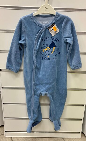 Pidžama (slipijs) 6-9 mēn./74cm/Gaiši zils/Super hero in training.
