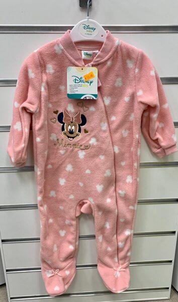 Pidžama (slipijs) 0-3 mēn./Rozā ar Minnie/Aizvelkams ar rāvēju.