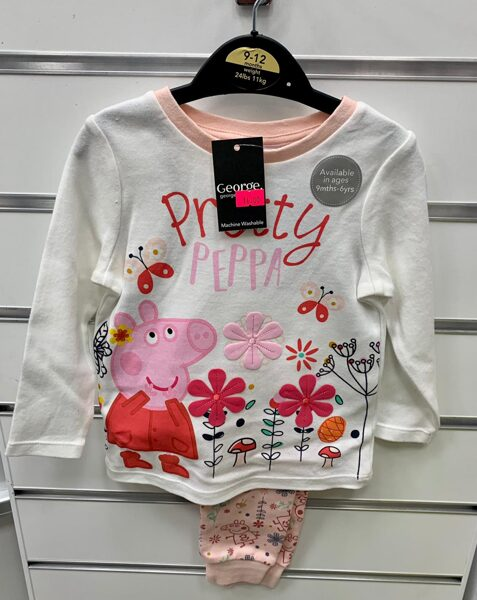 Pidžama meiteņu/garās rokas+garās bikses/9-12 mēn./līdz 11kg/Pretty Peppa.