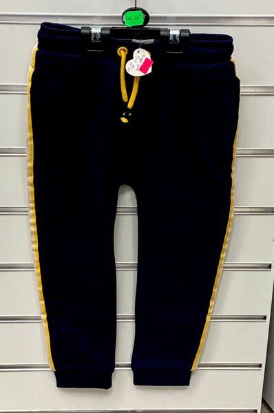 Sporta bikses 4-5 gadi/104-110cm/Melnas ar dzeltenām svītrām sānos.