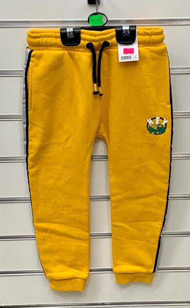 Sporta bikses 4-5 gadi/104-110cm/Dzeltenas ar uzrakstu Hey.