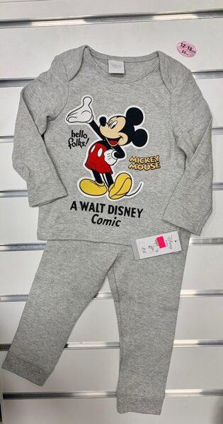 Pidžama garās rokas+garās bikses/12-18 mēn./86cm/Pelēka ar Mickey Mouse