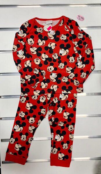 Pidžama garās rokas+garās bikses/12-18 mēn./86cm/Sarkana ar mikipelēm.