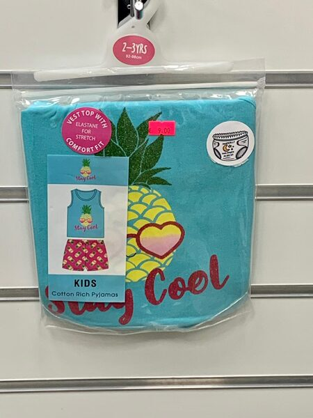 Pidžama īsā/2-3 gadi/92-98cm/Stay cool/Ar ananasiem.