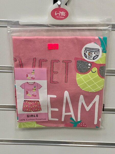 Pidžama meiteņu/īsā/6-7gadi/116-122cm/Sweat dreams/Ar ananasiem