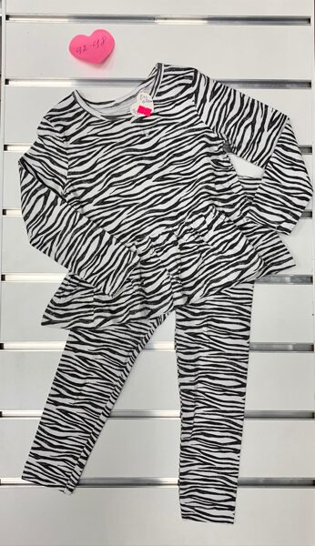 Komplekts/garroku krekliņš+legingi/2-3 gadi/92-98cm/Zebras prints.