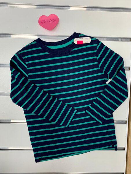 Garroku krekls 3-4 gadi/98-104cm/Tumšs ar zaļām svītrām.