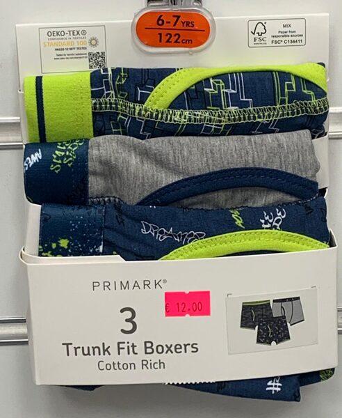 Apakšbikses zēniem 3gb/Boxer/6-7 gadi/122cm/Zaļie, pelēkie, zilie toņi.