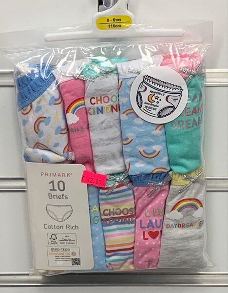 Apakšbikses 10gb/5-6 gadi/116cm/krāsainas ar varavīksnēm.