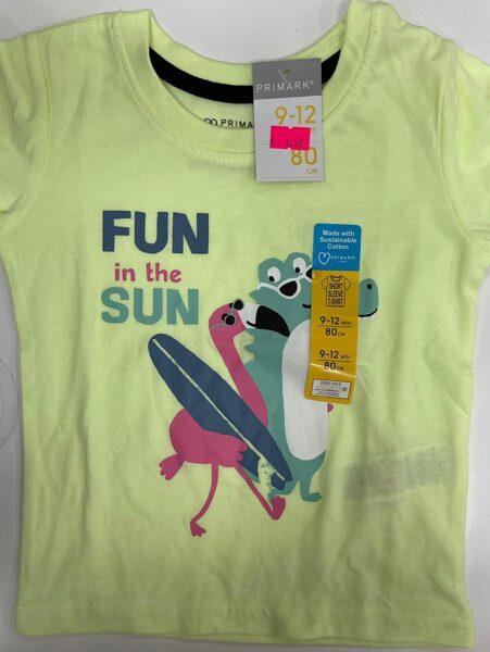 Īsroku krekls 9-12 mēn./80cm/Dzeltens/Fun in the sun.