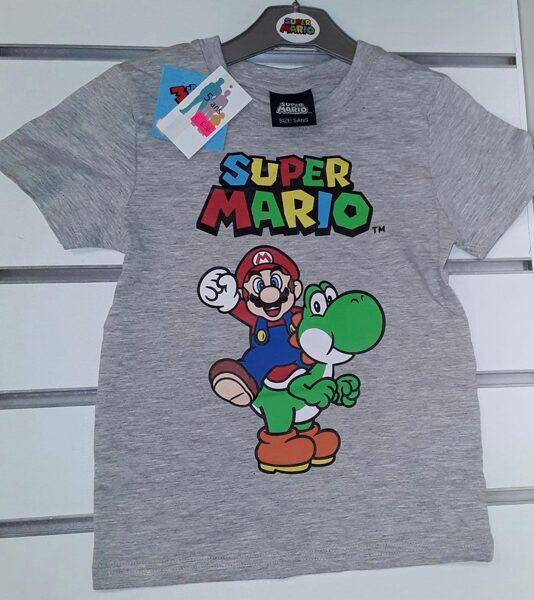 Īsroku krekliņš 5gadi/Pelēks/Super Mario