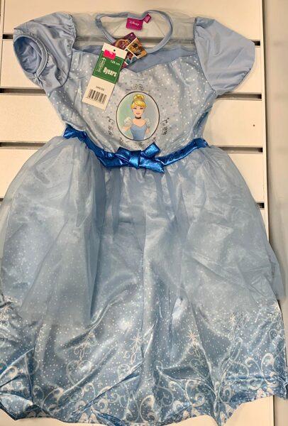 Kleita ar īsām rokām 8 gadi/128cm/Zila ar baltu/Princess