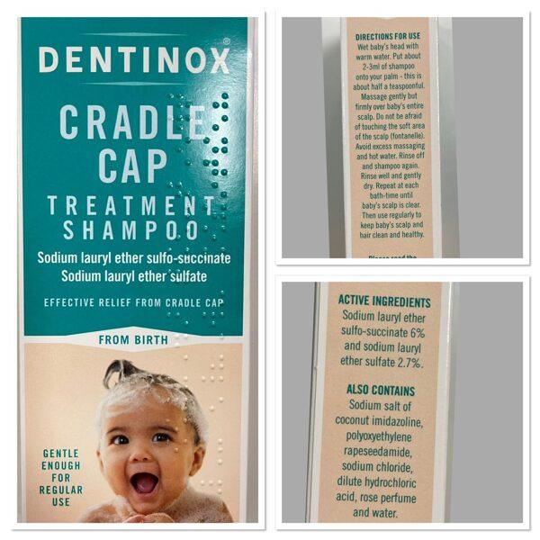 Dentinox šampūns piena krevelei/piemērots jau no dzimšanas.