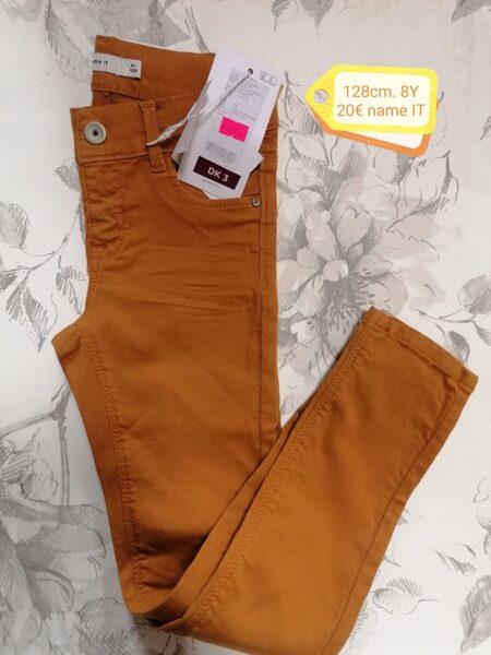 Bikses meitenēm 128cm/8 gadi/Smilšu krāsas - oranžīgas/Name it.