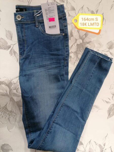Džinsa bikses meitenēm/164cm/izmērs S/Zilas ar balinātas detaļas/LMTD