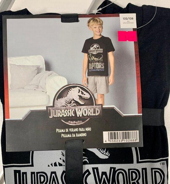 Vasaras komplekts zēniem/122-128cm/Melns īsroku krekls+šorti/Jurassic world