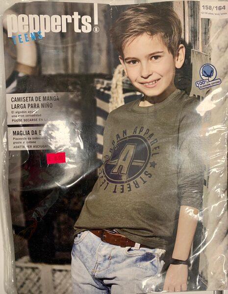 Garroku krekls zēniem 158-164cm/Hakki zaļš ar melniem uzrakstiem/Pepperts