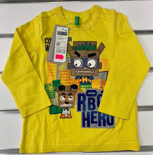 Garroku krekls 1-2 gadi/Dzeltens ar robotiem/Robot hero