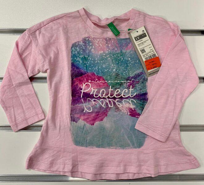 Garroku krekls 82cm/Rozā ar uzrakstu Protect