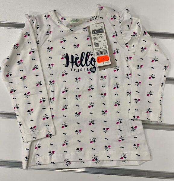 Garroku krekls 9-12 mēn./74cm/Balts ar puķītēm/Hello this is me.