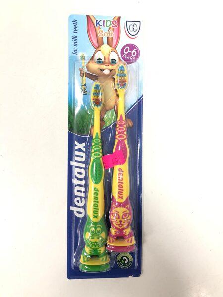Zobu birstes Dentalux 2gb/0-6 gadi/Soft