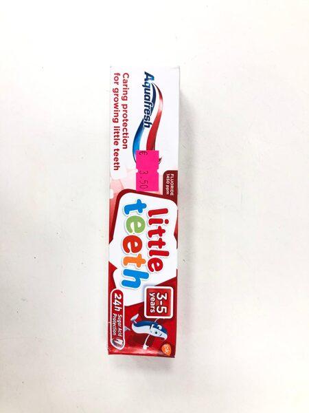Zobu pasta Aquafresh/3-5 gadi/Little teeth/Kastītē.
