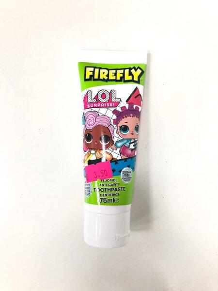 Zobu pasta Firefly/LOL 75ml