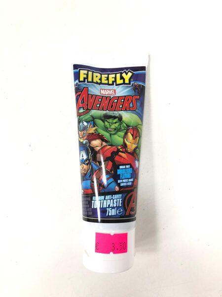 Zobu pasta Firefly/3+ gadi/Marvel Avengers/75ml