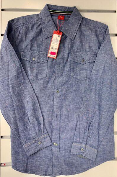 Garroku krekls 10-11 gadi/Zils, džinsveida.