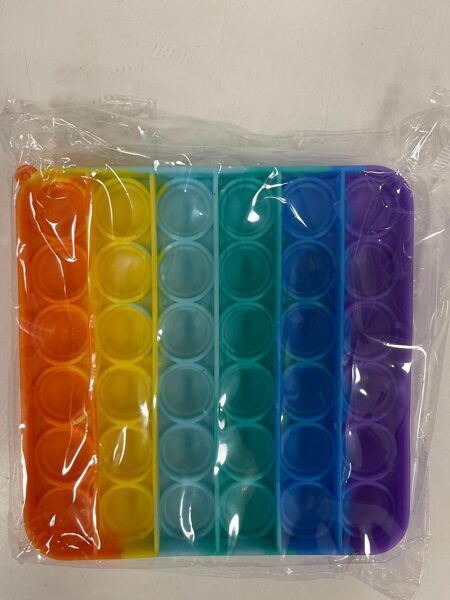 Pop It krāsains/kvadrāta forma