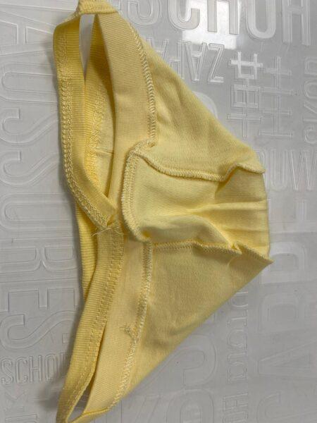 Cepurīte jaundzimušajiem/0-1 mēn./Dzeltena, sienama, ar vīlēm uz āru/Turcija