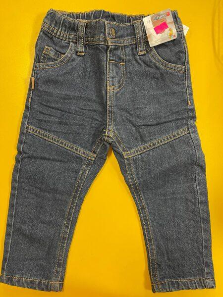 Džinsa bikses 74cm/Zilas ar gumijotu jostas vietu/Ergee