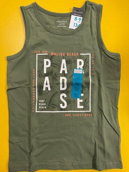 Bezroku krekls 8-9 gadi/134cm/Haki zaļš/Paradise