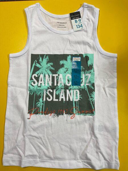 Bezroku krekls 8-9 gadi/134cm/Balts/Santacruz Island