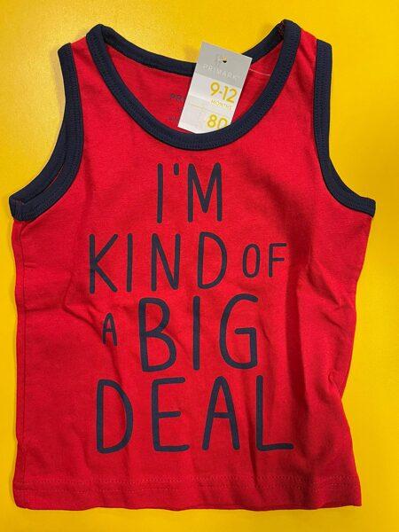 Bezroku krekls 9-12 mēn./80cm/Sarkans/I'm kind of a big deal