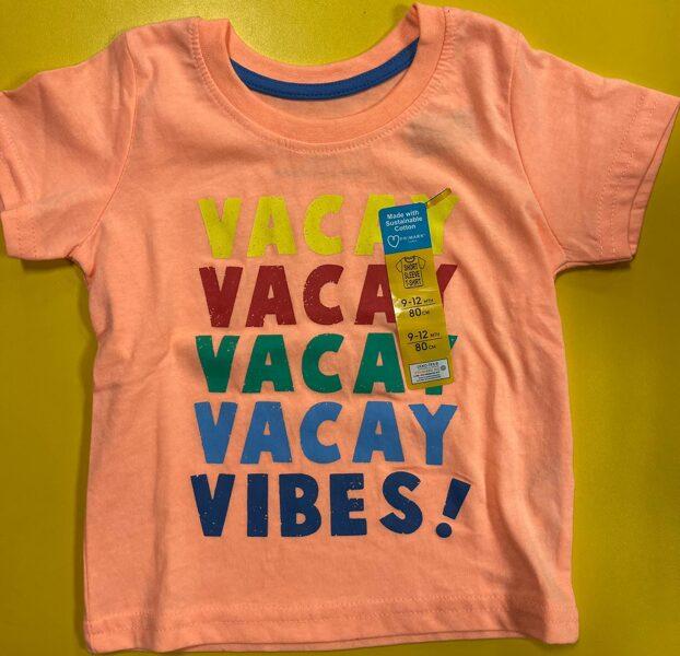 Īsroku krekls 9-12 mēn./80cm/Oranžs/Vacay-Vibes