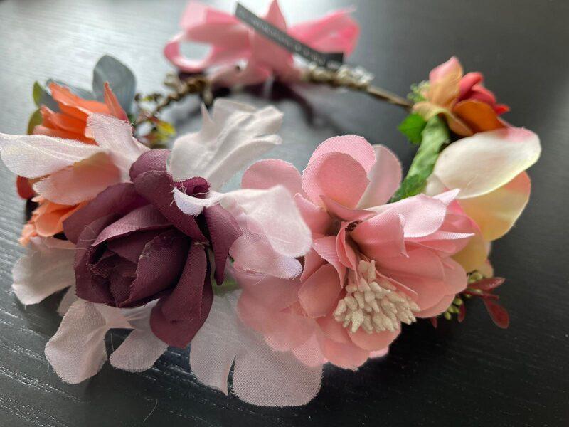Ziedu stīpiņa matiem/violetos toņos