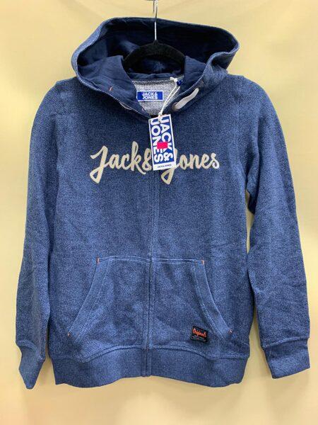 Jack&Jones jaka ar kapuci/152cm/gaiši zila