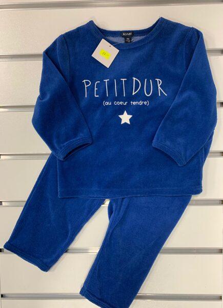 Pidžamma 2 daļas spilgti zila KIABI 74-80 cm
