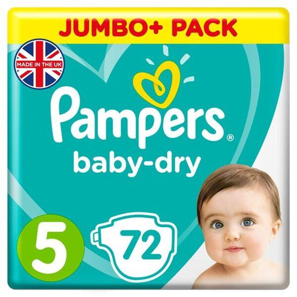 Pampers Baby-dry 5.izm 72 gab. (11-16kg)